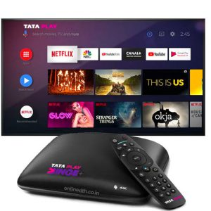 Tata Sky Binge Plus 4K Set Top Box New Connection All India Offer -6 Months Binge Sub. Free